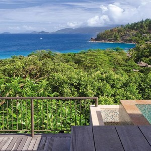 Four Seasons Resort Seychelles - Luxury Seychelles Honeymoon packages - Hilltop ocean view villa pool view