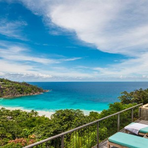 Four Seasons Resort Seychelles - Luxury Seychelles Honeymoon packages - Hilltop ocean view villa terrace1