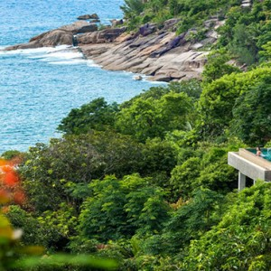 Four Seasons Resort Seychelles - Luxury Seychelles Honeymoon packages - Hilltop ocean view villa view