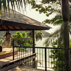 Four Seasons Resort Seychelles - Luxury Seychelles Honeymoon packages - Ocean view villa balcony