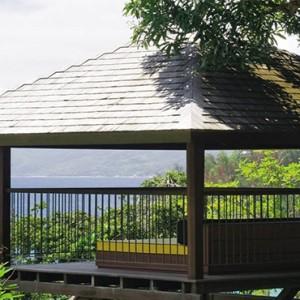 Four Seasons Resort Seychelles - Luxury Seychelles Honeymoon packages - Ocean view villa deck