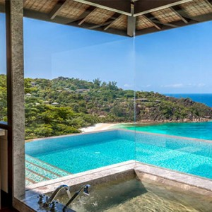 Four Seasons Resort Seychelles - Luxury Seychelles Honeymoon packages - Serenity villa bathroom view