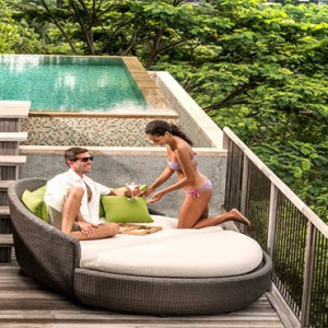Four Seasons Resort Seychelles - Luxury Seychelles Honeymoon packages - Serenity villa deck