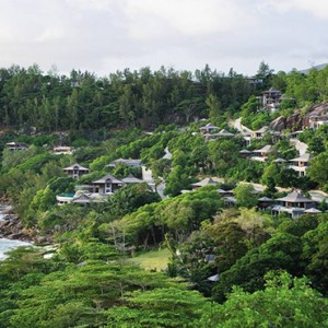 Four Seasons Resort Seychelles - Luxury Seychelles Honeymoon packages - aerial view