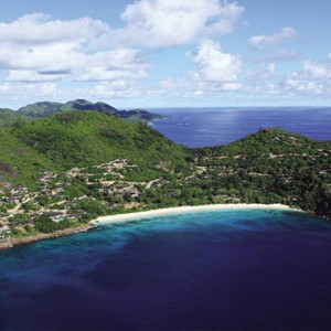 Four Seasons Resort Seychelles - Luxury Seychelles Honeymoon packages - aerial view1