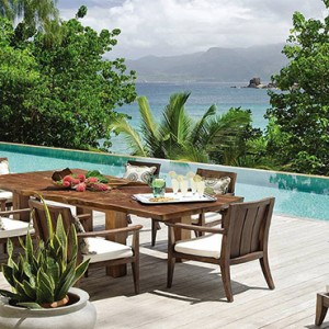 Four Seasons Resort Seychelles - Luxury Seychelles Honeymoon packages - breakfast by pool
