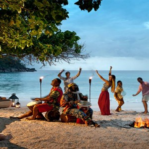 Four Seasons Resort Seychelles - Luxury Seychelles Honeymoon packages - dancing on beach
