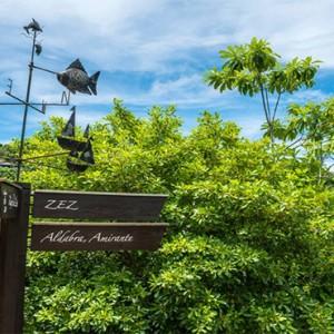 Four Seasons Resort Seychelles - Luxury Seychelles Honeymoon packages - signs