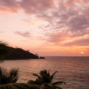 Four Seasons Resort Seychelles - Luxury Seychelles Honeymoon packages - sunset view