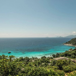 Four Seasons Resort Seychelles - Luxury Seychelles Honeymoon packages - yoga on the hillside