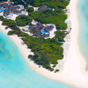 Hideaway Beach Resort and Spa - Luxury Maldives honeymoon packages - aerial view