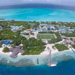Hideaway Beach Resort and Spa - Luxury Maldives honeymoon packages - aerial view1