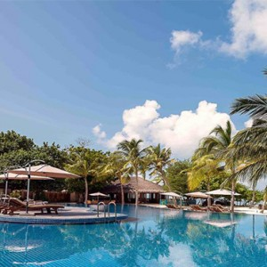 Hideaway Beach Resort and Spa - Luxury Maldives honeymoon packages - main pool