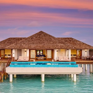 Hideaway Beach Resort and Spa - Luxury Maldives honeymoon packages - ocean villa pool