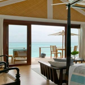 Loama Resort Maldives at Maamigili - Luxury Maldives Honeymoon packages - Ocean villa bedroom