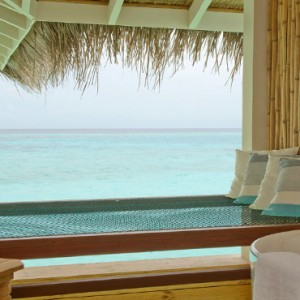 Loama Resort Maldives at Maamigili - Luxury Maldives Honeymoon packages - Ocean villa view from the bedroom