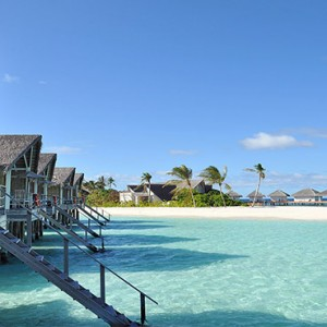 Loama Resort Maldives at Maamigili - Luxury Maldives Honeymoon packages - Ocean villas line up