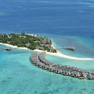 Loama Resort Maldives at Maamigili - Luxury Maldives Honeymoon packages - aerial view