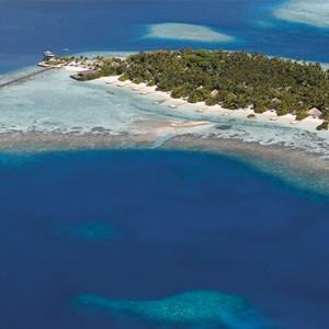Nika Island Resort and Spa - Luxury Maldives Honeymoon Packages - aerial view