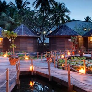Nika Island Resort and Spa - Luxury Maldives Honeymoon Packages - lotus spa night