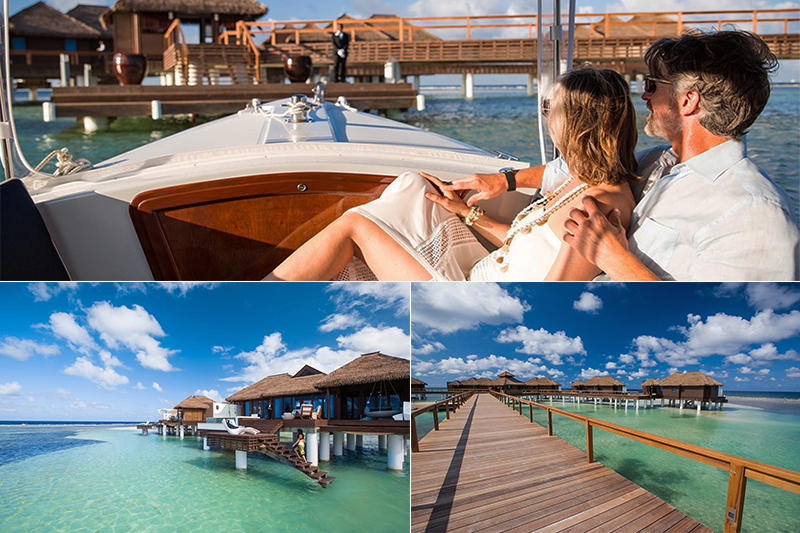sandals overwater villas royal caribbean easy access