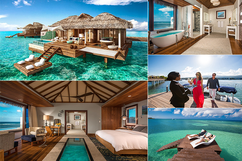 sandals overwater villas royal caribbean