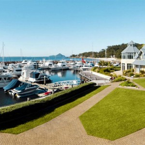 Anchorage Port Stephens - Luxury Australia Honeymoon packages - exterior detail