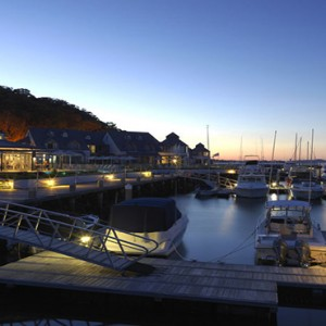 Anchorage Port Stephens - Luxury Australia Honeymoon packages - marina at night