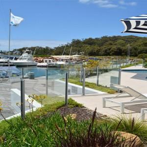 Anchorage Port Stephens - Luxury Australia Honeymoon packages - marina views
