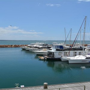 Anchorage Port Stephens - Luxury Australia Honeymoon packages - marina views1