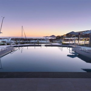 Anchorage Port Stephens - Luxury Australia Honeymoon packages - pool and marina
