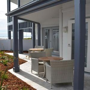 Anchorage Port Stephens - Luxury Australia Honeymoon packages - terrace view