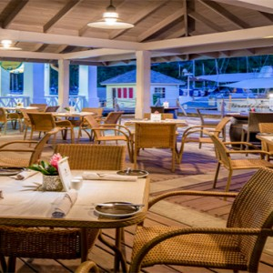 Capella Marigot Bay Resort and Spa - Luxury St Lucia honeymoon packages - Bayside Cafe exterior