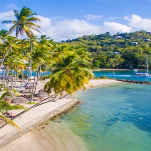 Capella Marigot Bay Resort and Spa - Luxury St Lucia honeymoon packages - Beach