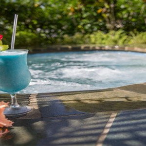 Capella Marigot Bay Resort and Spa - Luxury St Lucia honeymoon packages - Bedroom hot tub