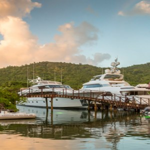 Capella Marigot Bay Resort and Spa - Luxury St Lucia honeymoon packages - Marina