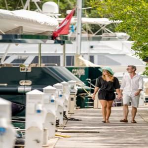 Capella Marigot Bay Resort and Spa - Luxury St Lucia honeymoon packages - Marina Dock