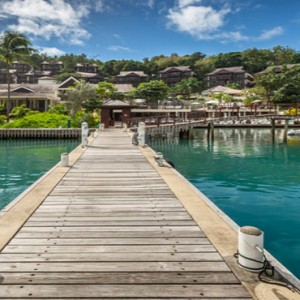 Capella Marigot Bay Resort and Spa - Luxury St Lucia honeymoon packages - jetty