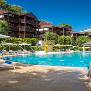 Capella Marigot Bay Resort and Spa - Luxury St Lucia honeymoon packages - pool at day