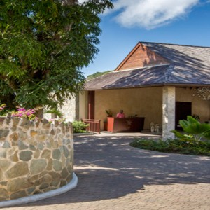 Capella Marigot Bay Resort and Spa - Luxury St Lucia honeymoon packages - spa reception1