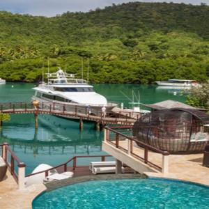 Capella Marigot Bay Resort and Spa - Luxury St Lucia honeymoon packages - yacht marina1