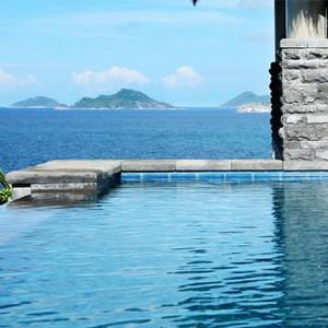 MAIA Luxury Resort and Spa - Luxury Seychelles Honeymoon Packages - Ocean Panoramic Villas pool view