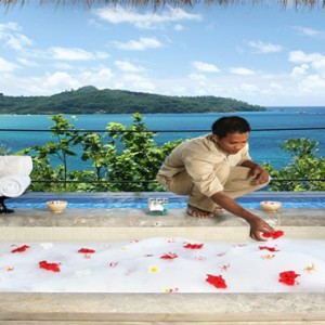 MAIA Luxury Resort and Spa - Luxury Seychelles Honeymoon Packages - bath with a view