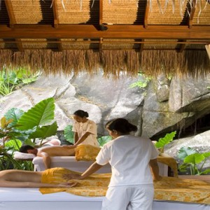 MAIA Luxury Resort and Spa - Luxury Seychelles Honeymoon Packages - couple spa1