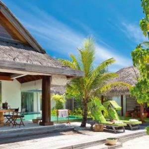 Maldives Honeymoon Packages Naladhu Private Island Maldives Beach House With Pool Bedroom Exterior