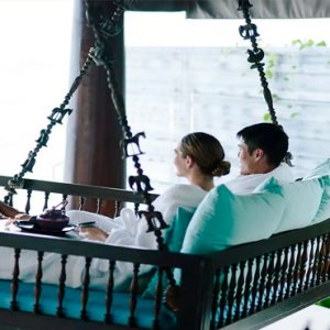 Maldives Honeymoon Packages Naladhu Private Island Maldives Spa Oceanfront Relaxation Deck