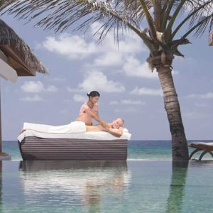 Maldives Honeymoon Packages Naladhu Private Island Maldives Spa Treatment On The Deck