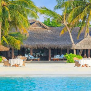Maldives Honeymoon Packages Naladhu Private Island Maldives The Living Room Beachfront