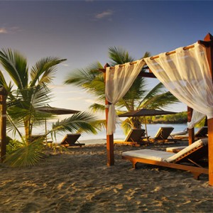 Ti Kaye Resort and Spa - Luxury St Lucia Honeymoon packages - Cabana on beach