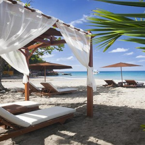 Ti Kaye Resort and Spa - Luxury St Lucia Honeymoon packages - Cabana on beach1